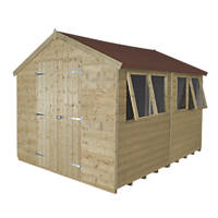 Forest 8' x 10' (Nominal) Apex Tongue & Groove Timber Shed with Assembly
