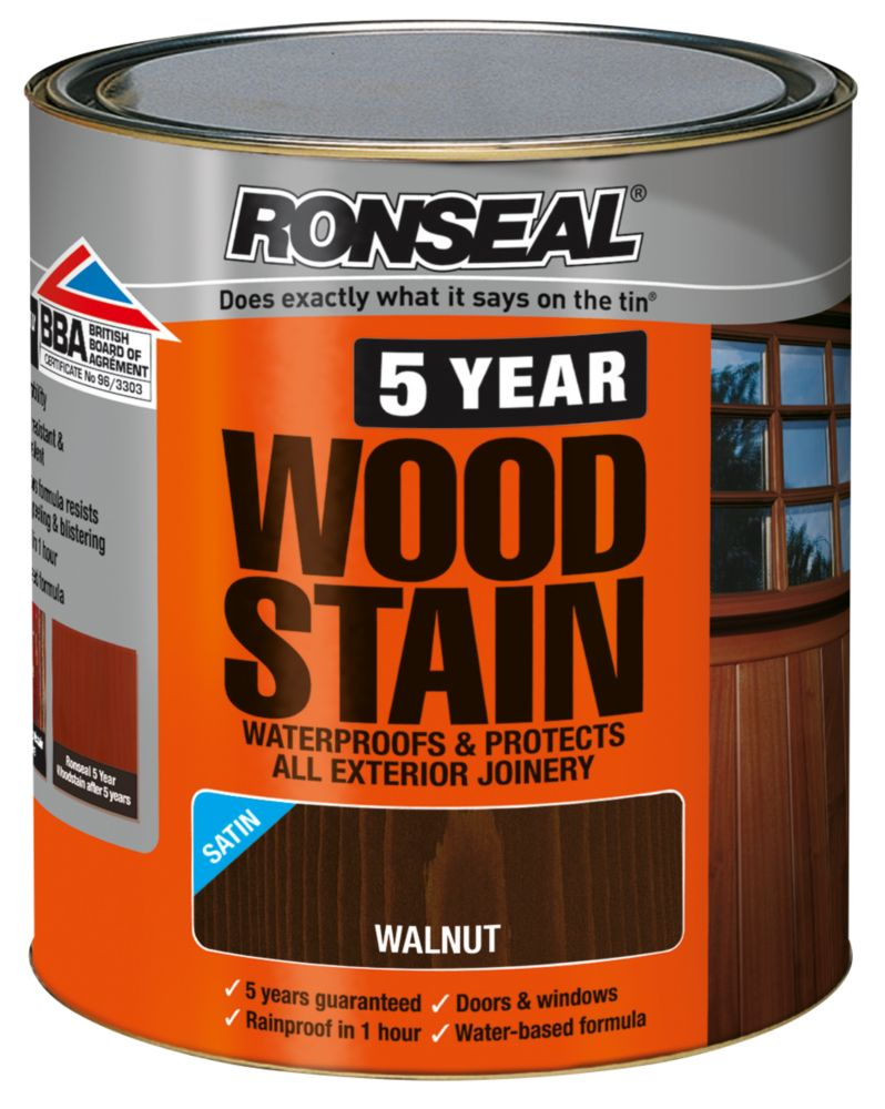 Ronseal 5 Year Wood Stain Satin Walnut 750ml
