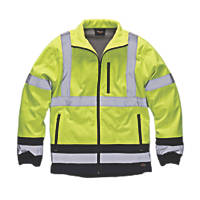 "Dickies Hi-Vis Two-Tone Soft Shell Jacket Yellow/Navy  XX Large 54"" Chest"