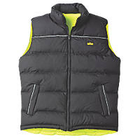 "Site  Reversible Hi-Vis Bodywarmer Yellow/Black XX Large 51"" Chest"