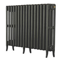 Arroll Neo-Classic 4-Column Cast Iron Radiator Pewter 660 x 994mm