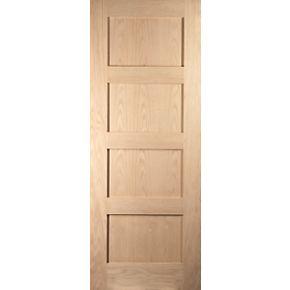 Jeld wen shaker 4 panel interior fire door unfinished 2040 for Door 2040 x 726