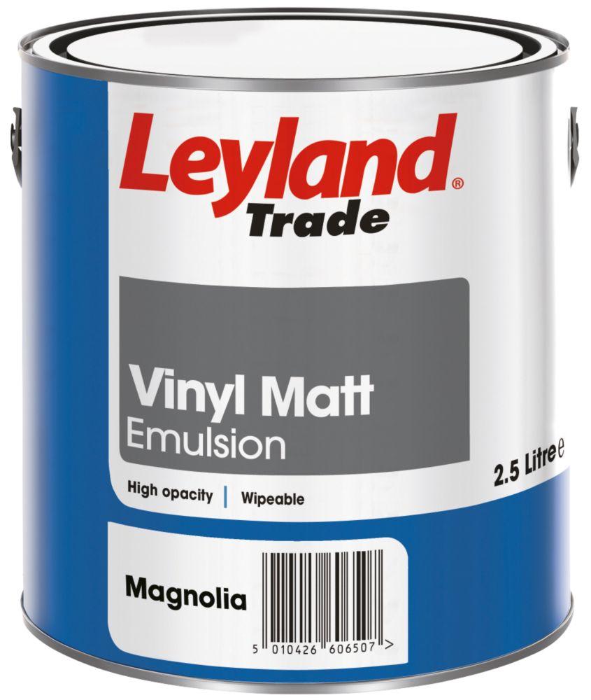Leyland Vinyl Matt Paint Magnolia 2.5Ltr