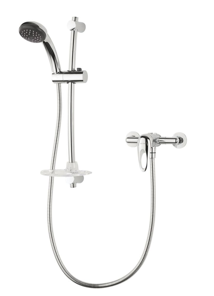Triton Kaho Manual Mixer Shower Flexible Exposed Chrome