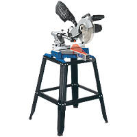 Scheppach HM100LU 254mm Single-Bevel Sliding  Compound Mitre Saw & Leg Stand 230V
