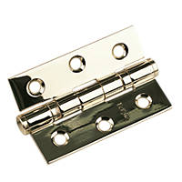 Eclipse Ball Bearing Hinge Electro Brass 76 x 51mm 2 Pack