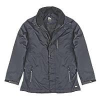 "Hyena Asgard Waterproof Jacket Black Medium 50"" Chest"