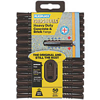 Plasplugs Solid Wall Fixing Brown 3.5-5.5mm 50 Pack