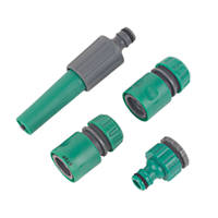 "Hose Fittings Set ½"" 4 Pcs"