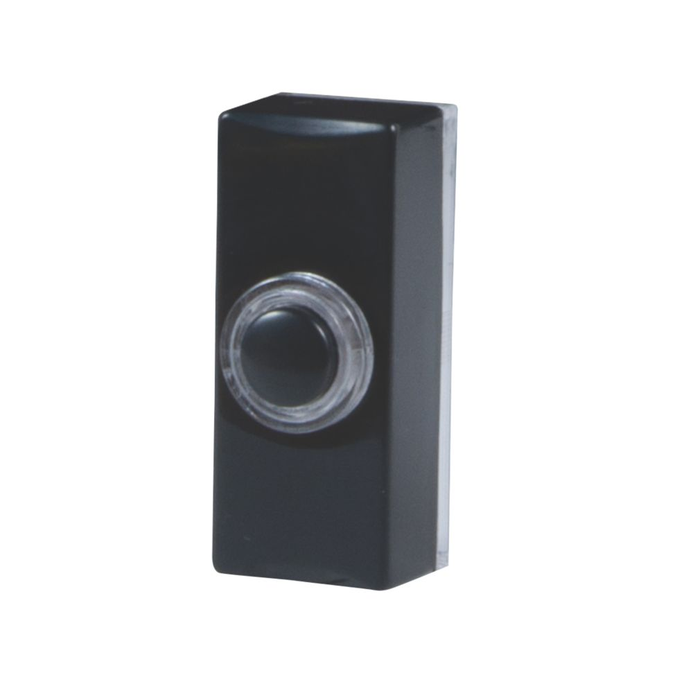 Wired Illuminated Bell Push Black