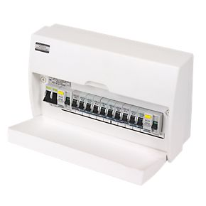 Volex 10 Way Fully Insulated Dual RCD Consumer Unit