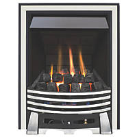 Focal Point Elysee Chrome Rotary Control Inset Gas Multiflue Fire