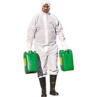 "Delta Plus  DT119 Type 5/6 Disposable Coverall White X Large 42-45"" Chest 31"" L"