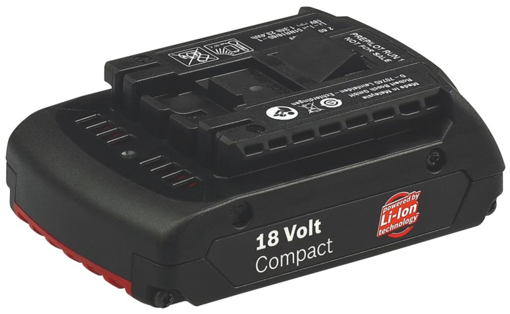 Bosch 18V 1.3Ah Li-Ion Slot-In Batteries