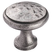 Carlisle Brass Beaten Cupboard Knob Pewter 22mm