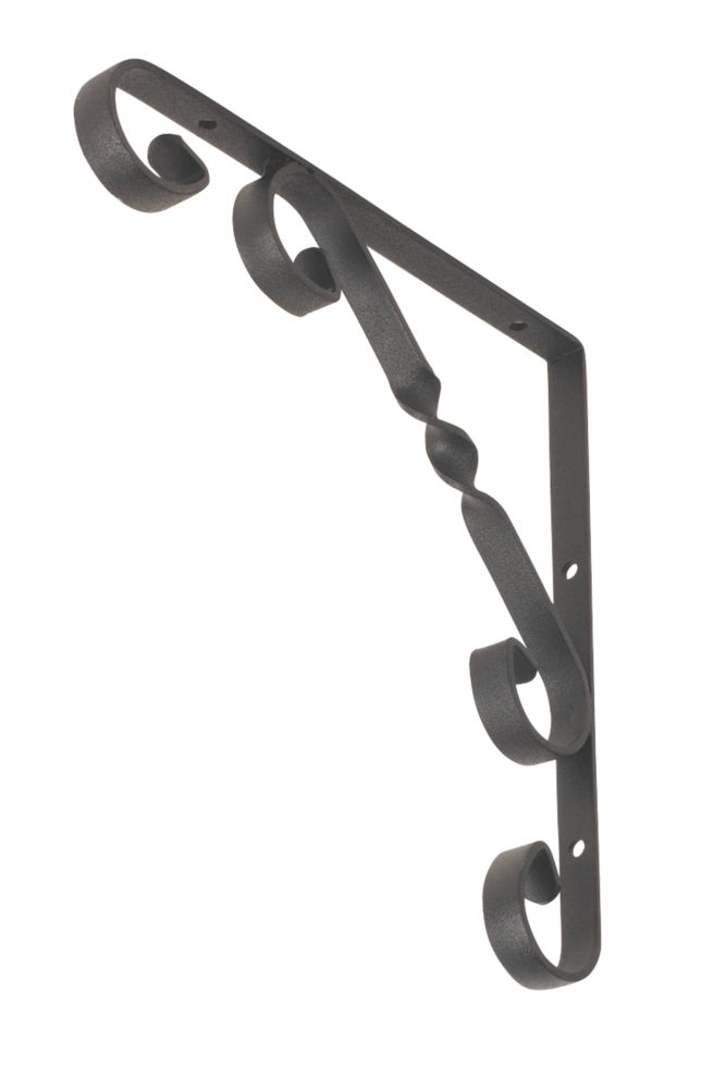 Decorative Stay Brackets Black 200 x 200mm Pack of 2