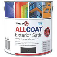 Zinsser All Coat Exterior Paint Black 2.5Ltr