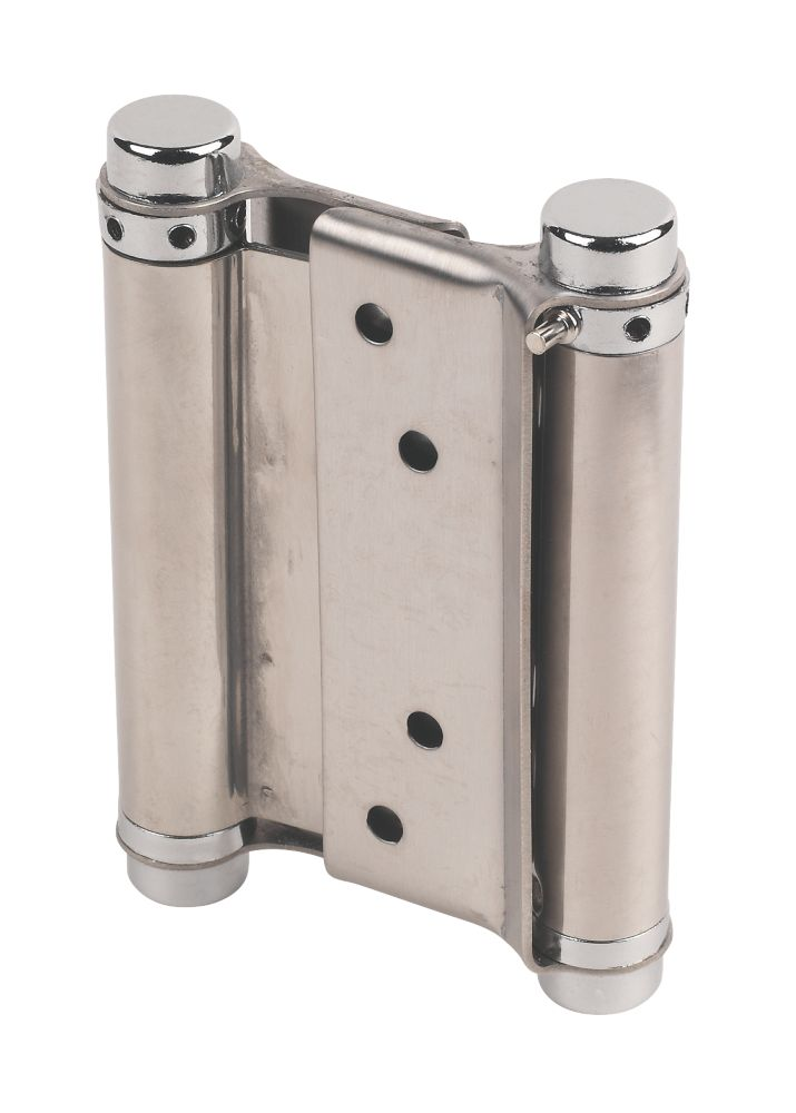 Eclipse Spring Hinges Satin Stainless Steel 103 x 43mm Pack of 2