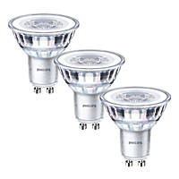 Philips GU10 LED Glass Reflector Lamps 390lm 900Cd 4.6W 3 Pack