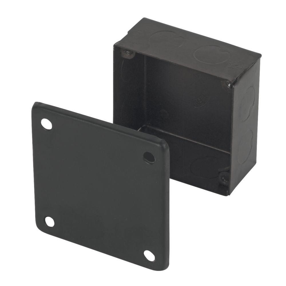 Appleby Black Adaptable Box with Knockouts 75 x 75 x 37mm