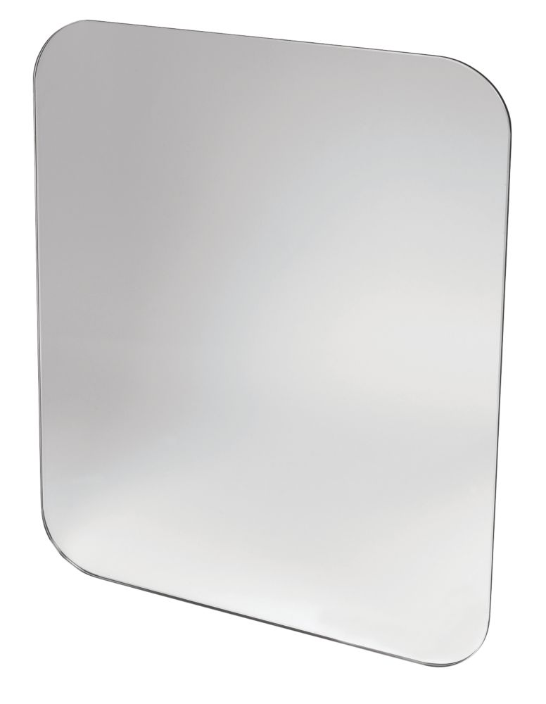 Swirl Ovali Bathroom Mirror Chrome Effect 400 x 12 x 500mm
