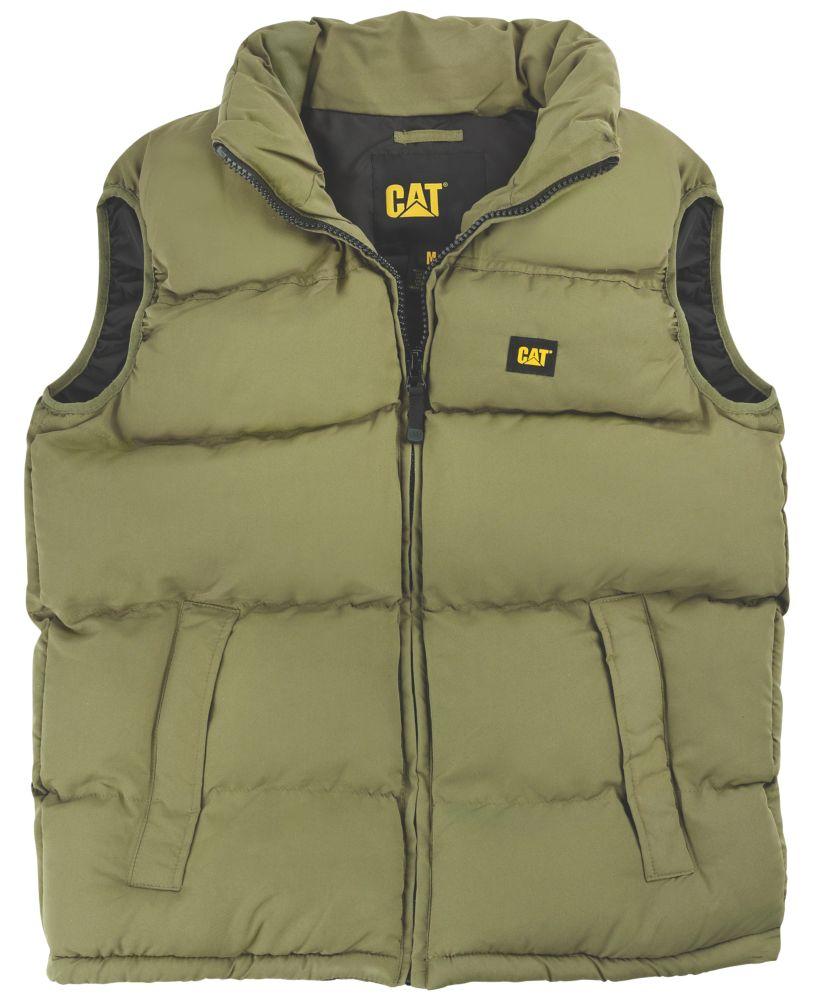"CAT C430 Body Warmer Olive X Large 46-48"""