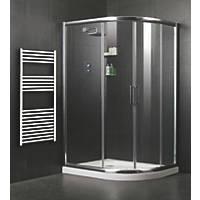 Moretti  Offset Quadrant Shower Enclosure LH/RH Silver 1200 x 800 x 1850mm