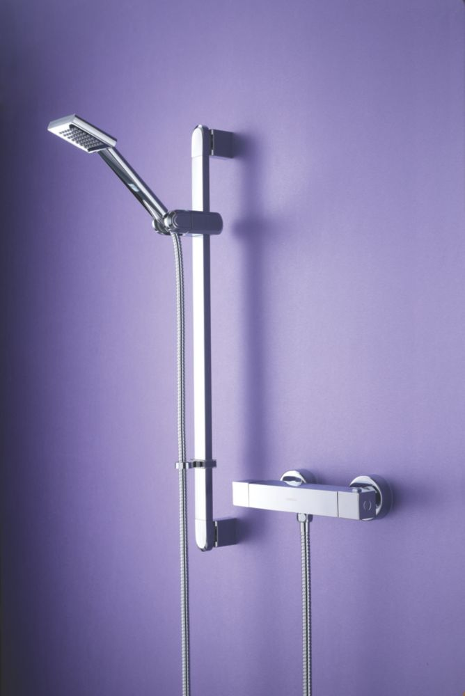 Bristan Quadrato Thermostatic Bar Mixer Shower Chrome