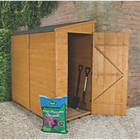 Forest 3' x 6' (Nominal) Pent Shiplap Timber Shed with Assembly