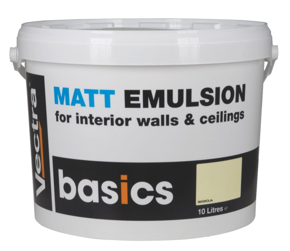 Vectra Basics Matt Emulsion Paint Magnolia 10Ltr