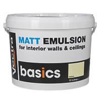 Matt Emulsion Paint Magnolia 10Ltr