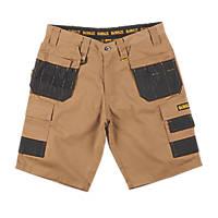 "DeWalt Ripstop Multi-Pocket Shorts Tan / Black 32"" W"