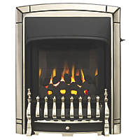 Valor Dream Slimline Brass Slide Control Inset Gas Fire