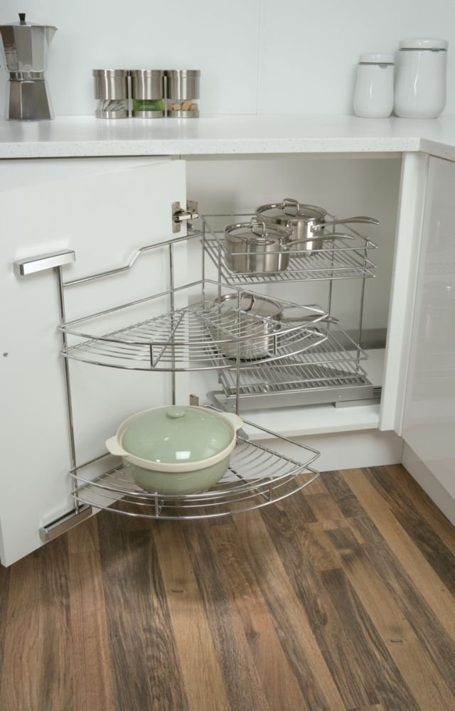 Swing-Out Corner Base Unit Chrome