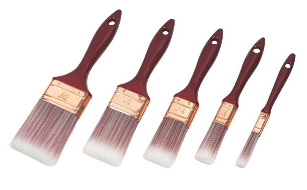 No Nonsense Synthetic Bristle Brushes 5 Piece Set