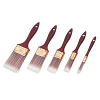 No Nonsense Synthetic Bristle Brushes 5 Pcs