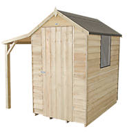 Forest 4' x 6' (Nominal) Apex Overlap Timber Shed