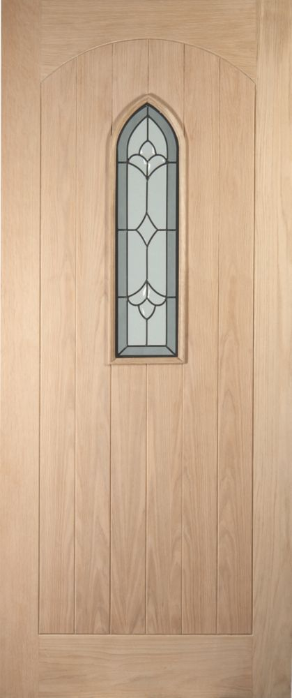 Jeld-Wen Fenchurch Single-Light Glazed Exterior Door Oak Veneer 813x2032mm