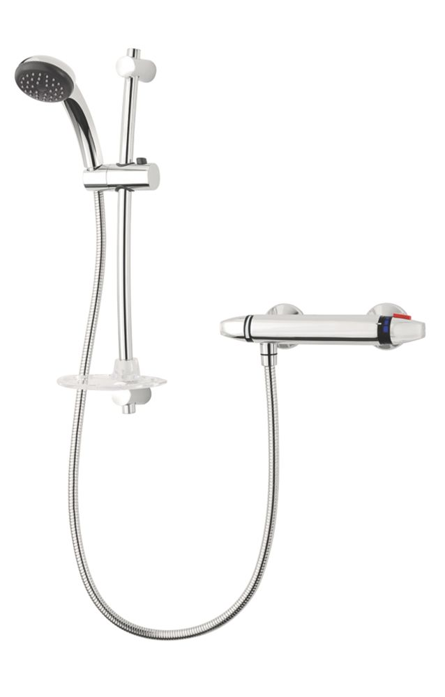 Triton Luca Thermostatic Mixer Shower Flexible Exposed Chrome