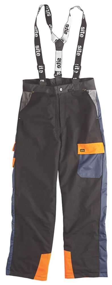 "Site Chainsaw Trousers Black / Blue 38""W 32"" L"