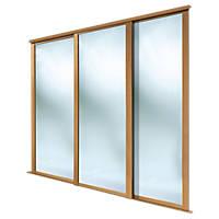 Spacepro 3 Door Framed Sliding Wardrobe Mirror Doors Mirror 2236 x 2260mm 3 Pack