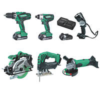 Hitachi KTL618SJ/JF 18V 2.5Ah Li-Ion  Cordless 6-Piece Power Tool Kit