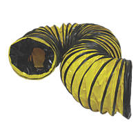 Stanley PVC Flexible Ducting Hose Black / Yellow 5m x 300mm