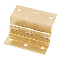 Stormproof Hinge Self-Colour Brass 55 x 63mm 2 Pack