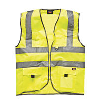 "Dickies  Hi-Vis Waistcoat Saturn Yellow Extra Large 50"" Chest"