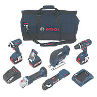 Bosch 0615990H1P 18V 4.0Ah Li-Ion Wireless Charging Cordless 6-Piece Power Tool Kit