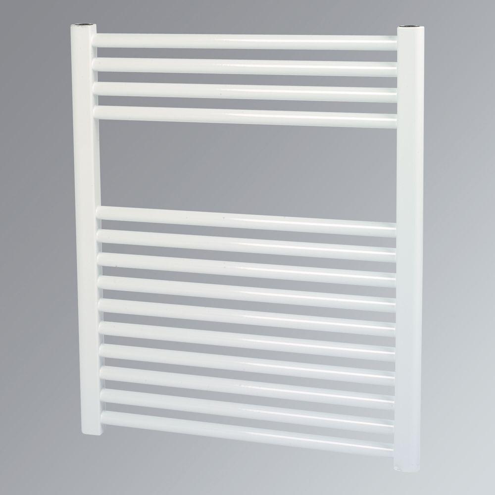 Kudox Flat Towel Radiator White 700 x 600mm 387W 1230Btu