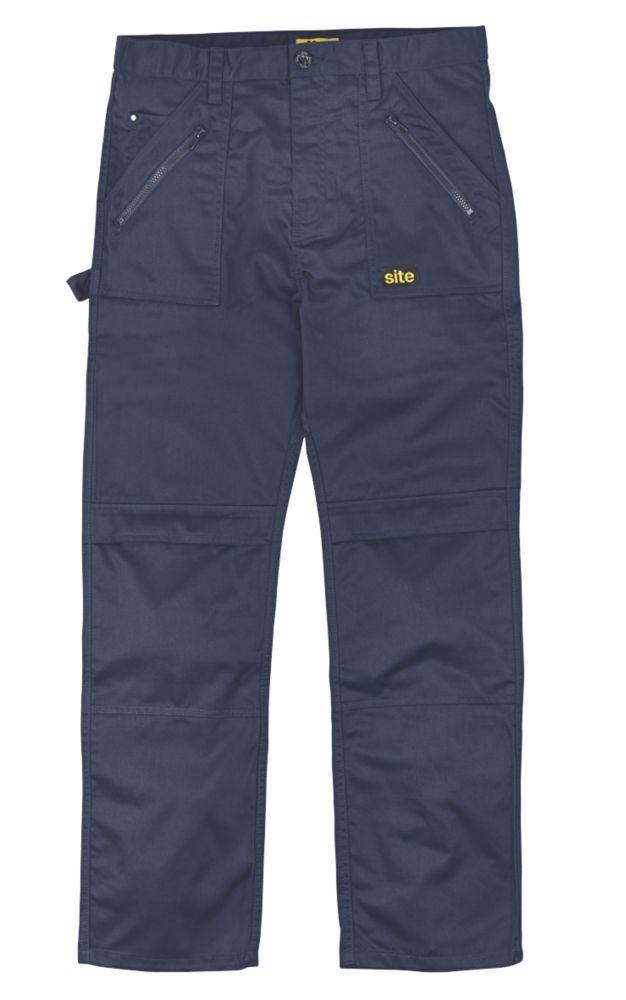 "Site Beagle Trousers Navy 34"" W 32"" L"