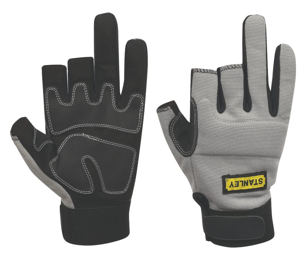 Stanley General Handling 3-Finger Framer Gloves Grey Large