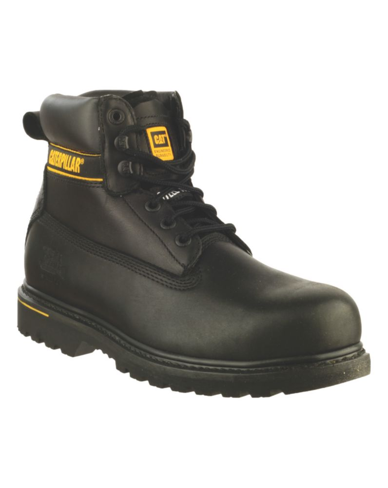 Caterpillar Holton S3 Black Safety Boots Size 6